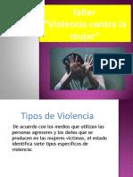 TALLER VIOLENCIA CONTRA LA MUJER