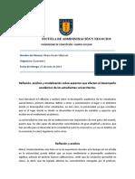 Analisis y reflexión economía 1 2019