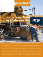 807 Study Guide - Focus Four - Caught-In or -Between Hazards