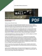 Commission Outlines Goldman Sachs Subprime Dilemma in Financial Crisis
