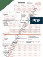 Popisnica - obrazac za popis stanovnika Republike Hrvatske 2011