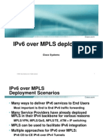IPv6 over MPLS deployment