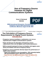 Frequency Source Requirements for Digital Communications Systems