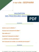 Validation - Règlementaire  et critères