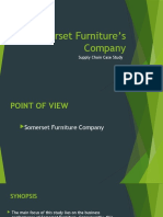 Somerset Furniture's Company CASE STUDY