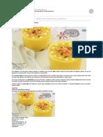 Recetas para Thermomix  Vasitos de crema fría de zanahoria