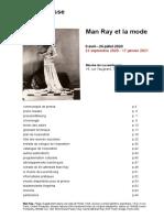 Exposition Man Ray Et La Mode au Musée du Luxembourg, Paris