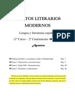 Textos Literarios Modernos (Apuntes Generales)