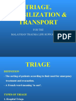 10 Triage, Stabilization, Transport, Communication.ppt