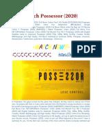 [CineMAX]-Watch! Possessor Movie [2020] Online Full and Free.pdf