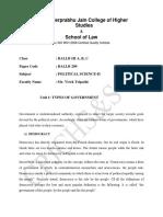 E-notes - Political Science - BALLB 210