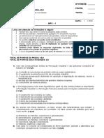 Sociologia Geral e do Direito DI01NA - 2017-1 ESPECIAL II