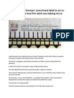 UAE financial system - Money Laundering and Terrorist Financing