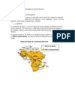 ASPECTOS FISIOGRÁFICOS DA ÁFRICA