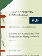 TEMAS DE DERECHO PENAL GENERAL