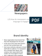 newspapers - media lang and representation lessons 3 4