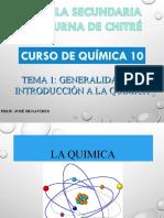 TEMA 1 GENERALIDADES E HISTORIA DE LA QUÍMICA QM10 ESNOCH