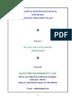 O & M Manual for macoil  240 KLD