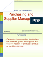 Chap 12s Purchasing & Supplier Managemnt