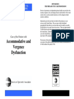 Accommodative and Vergence Dysfunction
