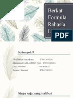 Berkat Formula Rahasia LSL-1