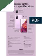 Samsung Galaxy S20 FE Specs