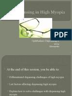 Dispensing in High Myopia and Hypermetropia - Copy.ppt