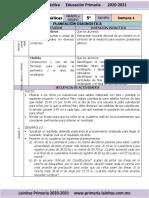2.- Diagnóstico - 5to Grado Matemáticas (2020-2021)