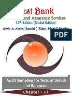 Chapter 17 Audit Sampling for Tests of Details of Balances