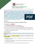 EL PROPÒSITO DE LAS PARÀBOLAS Mateo 13.10-17