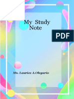 laurice STUDYNOTEBOOK