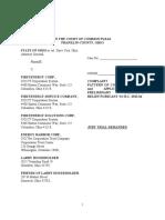 State Ex Rel Yost v FirstEnergy Et Al Complaint Alleging a Pattern of Corrupt Activity