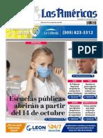 DIARIO LAS AMÉRICAS Portada digital del miércoles 23 de septiembre de 2020