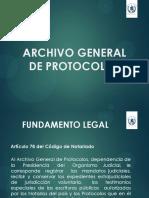 PRESENTACION ARCHIVO GENERAL DE PROTOCOLOS AP