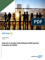 Guía de la versión Ariba Network 2002 (primer trimestre de 2020)