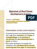 Appraisal of Real Estate development projects lecture
