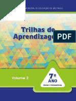 Trilhas de aprendizagens 7 ano - VOLUME 2