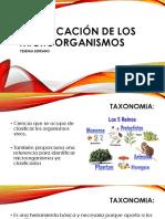 3. Clasificación de los microorganismos