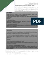 Nominación y operacionalización de las tasas