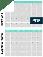 CALENDÁRIO EDITORIAL DC0 2020