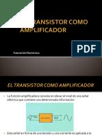 El transistor y su aplicacion como amplificador