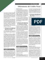 DIFERIMIENTO DEL CREDITO FISCAL
