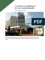Les 24 candidats à la Présidentielle du 29 Juillet 2018 au Mali.docx
