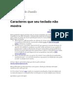Livrinhos do Danilo 2 — Caracteres que seu teclado não mostra – Março 2020