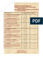 15  Point Checklist for Assessing Social Marketing Interventions