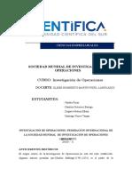 SOCIEDAD MUNDIAL  DE INVESTIGACIÓN DE OPERACIONES