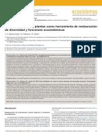 REVISTAECOSISTEMAS.RESTAURACION DE FUNCIONES ECOSISTEMICAS