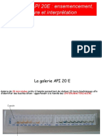 GALERIE API 20E  ensemencement lecture et interprétation