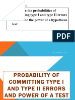 Lesson 2 Probability of type and type II Errors