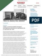 """""""Sólo el FAX (de radio), señora"""" _ Revista Nuts & Volts"""